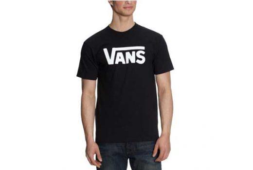 camiseta vans negra